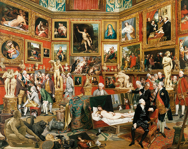 tours in florence - Johan Zoffany   Tribuna of the Uffizi   Google Art Project copy - Touring Florence